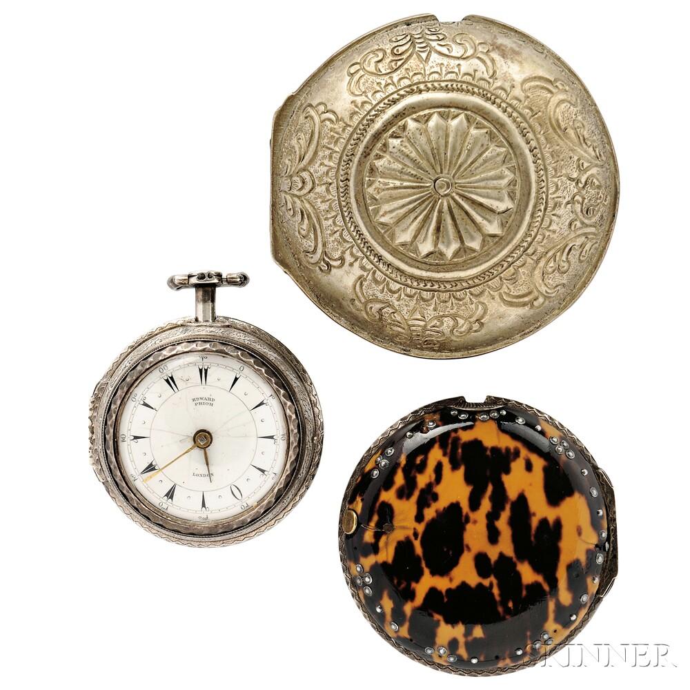 Edward Prior Silver Verge Watch for the Turkish Market