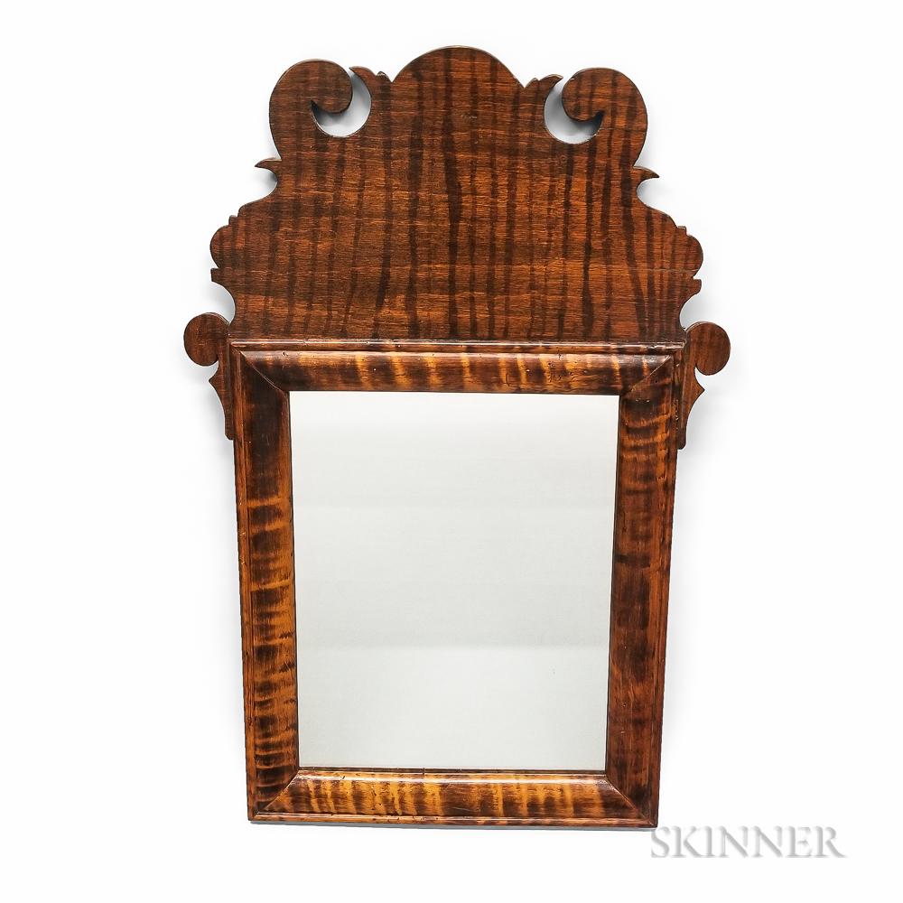 Queen Anne Tiger Maple Mirror