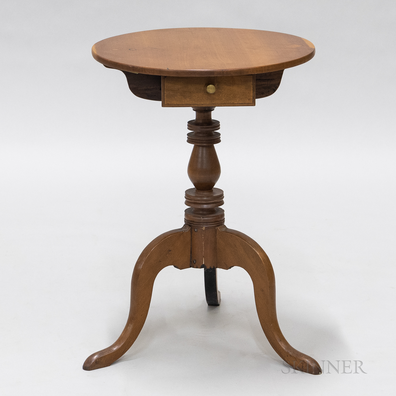 Cherry Candlestand with Drawer
