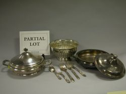 Lot of Silver Plate and Metal Hollowware and Flatware.