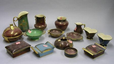 Seventeen Pieces of Assorted Carlton Ware Lustre Glazed and Decorated Table Items