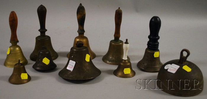 Ten Assorted Brass and Metal Bells