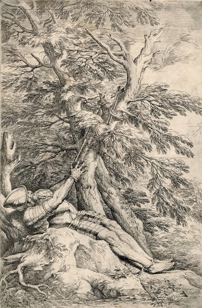 Salvator Rosa (Italian, 1615-1673)      St. William of Maleval