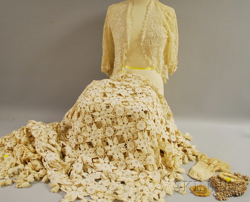 Five Crocheted and/or Lace Articles