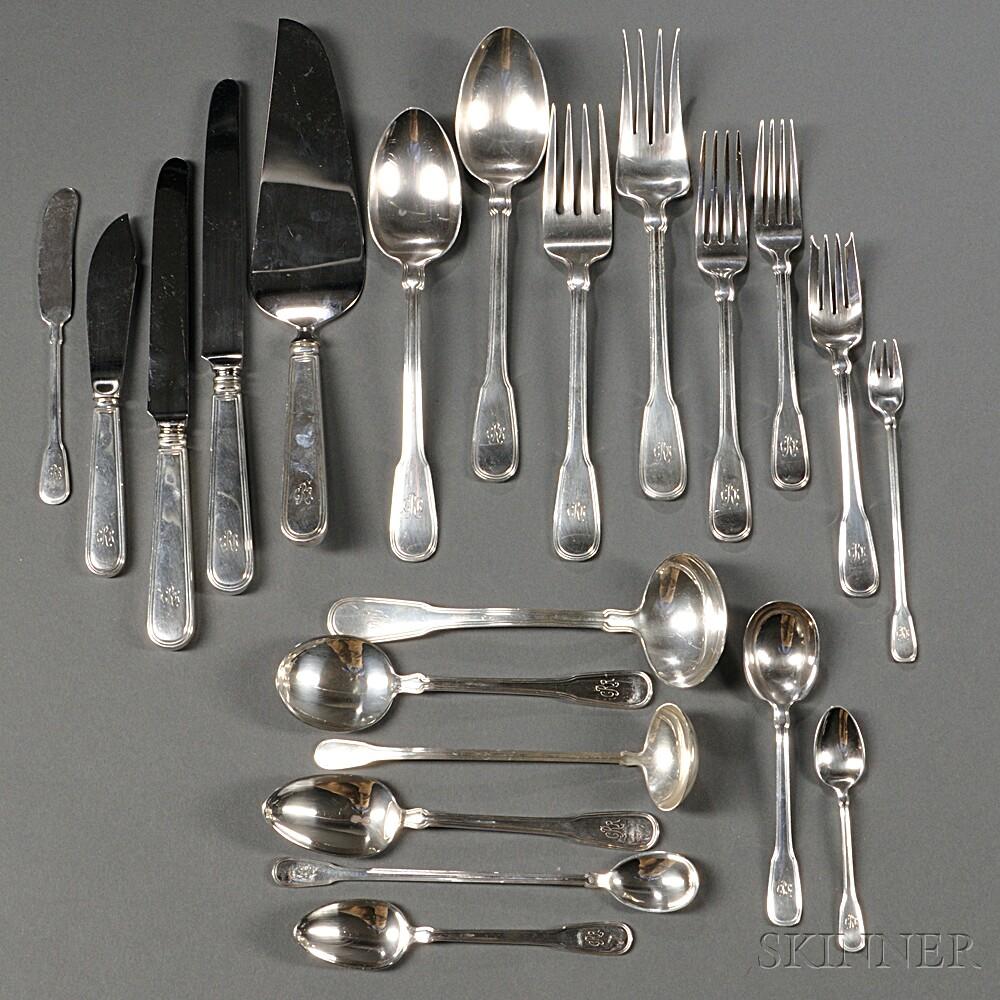 hamilton pattern sterling silver flatware service - Sterling Silver Flatware