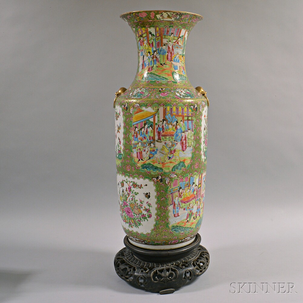 Rose Medallion Porcelain Palace Vase