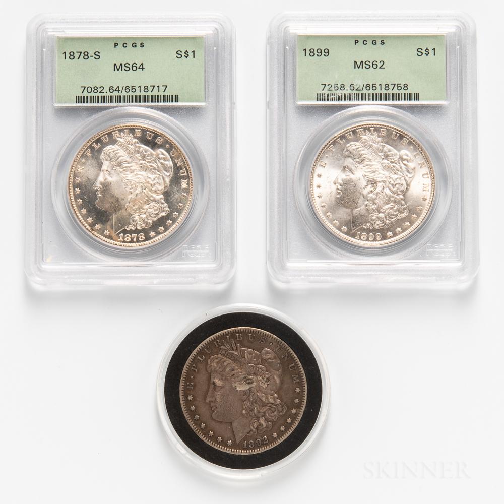 Three Morgan Dollars