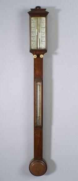 Irish Mahogany Stick Barometer