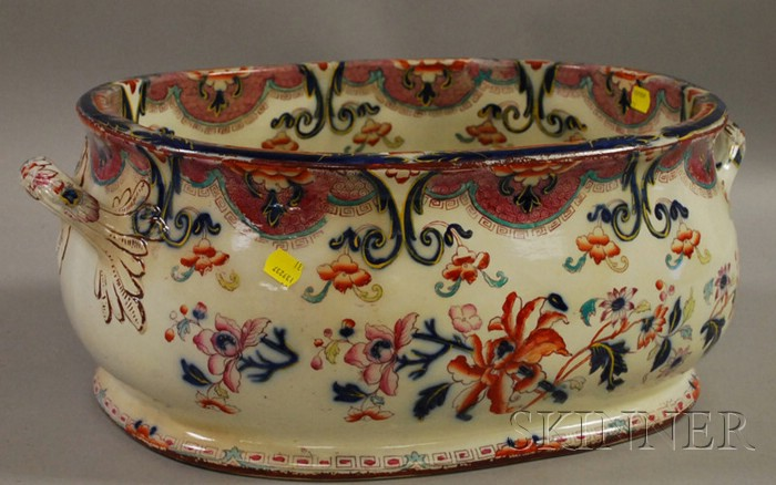 English Imari-palette Ceramic Foot Bath