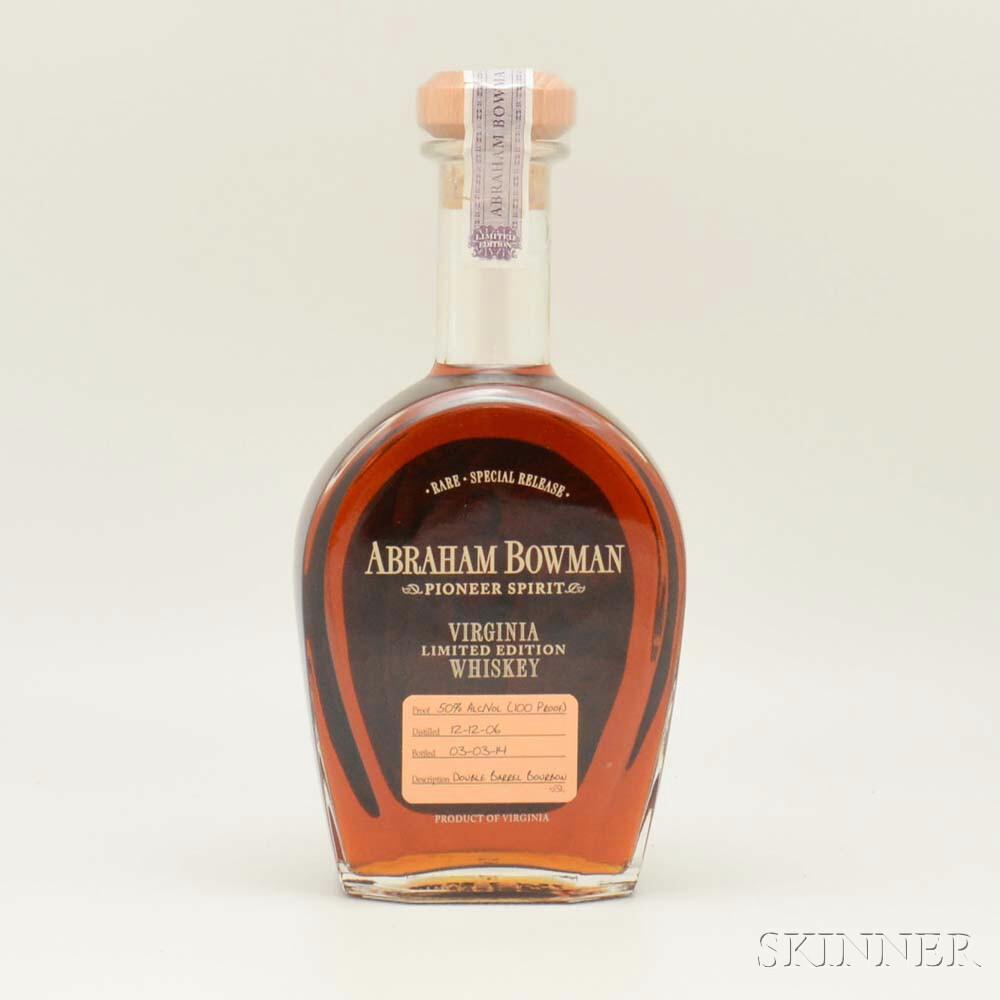 Abraham Bowman Double Barrel 2006, 1 750ml bottle