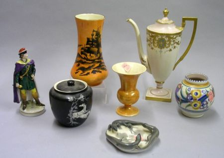 Seven Assorted Decorated Ceramic Table Items
