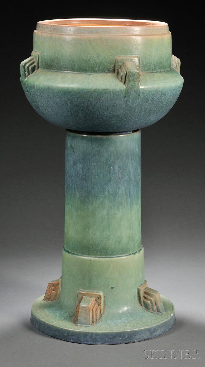 Roseville Artcraft Jardiniere and Pedestal