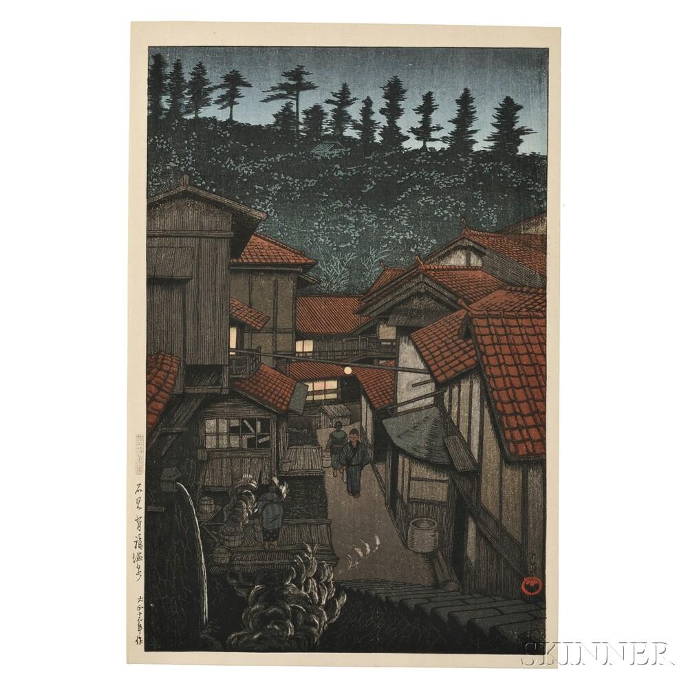Kawase Hasui (1883-1957), Arifuku Hotsprings in Iwami