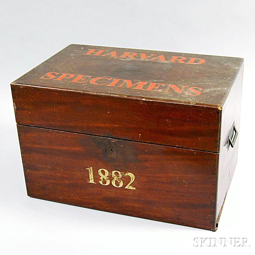 """Mahogany """"Harvard Specimens"""" Box"""