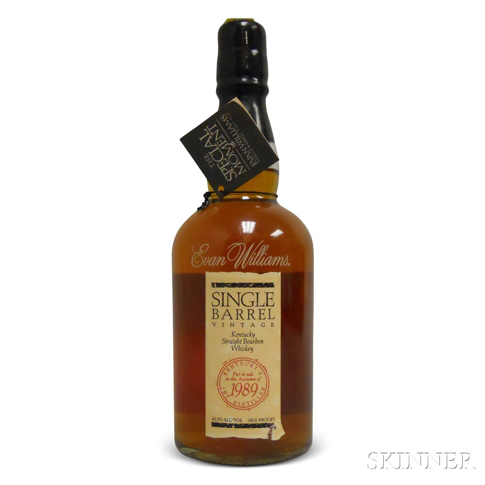 Evan Williams Single Barrel 1989, 1 750ml bottle