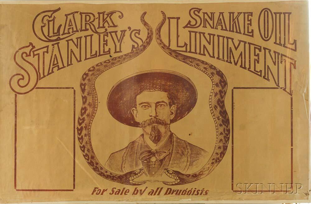 Clark Stanley's Snake Oil Liniment   Advertising Poster