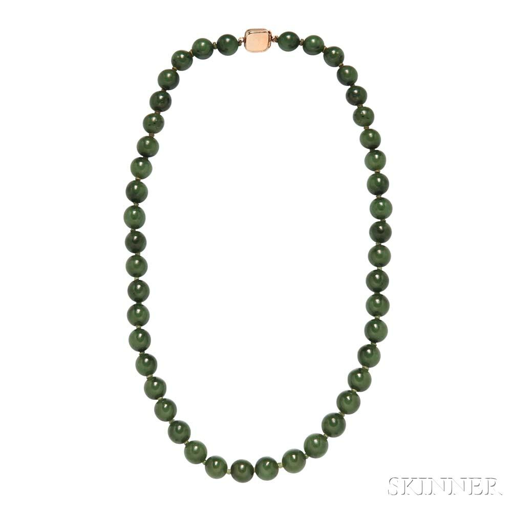Nephrite Bead Necklace