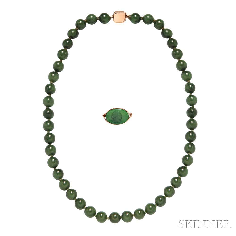 Nephrite Bead Necklace