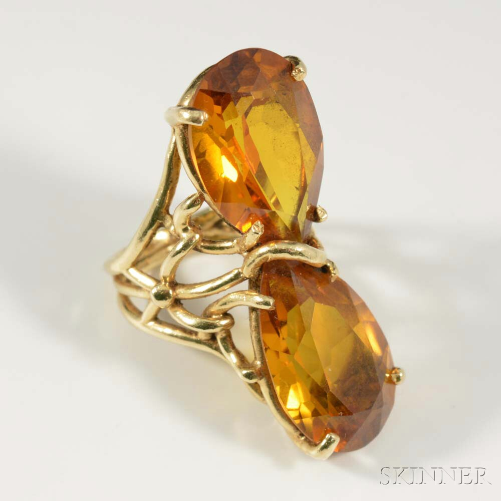 14kt Gold and Citrine Ring
