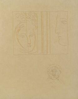 Pablo Picasso (Spanish, 1881-1973)  Profil et Tete de Femme