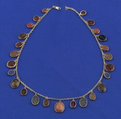 14kt Gold and Antique Intaglio Necklace
