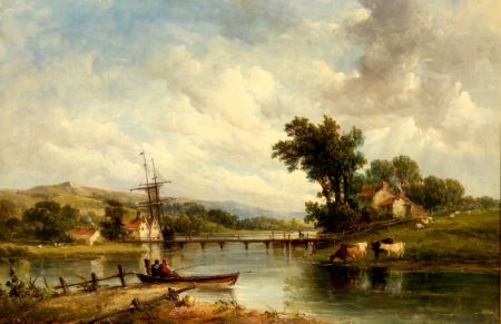 Alfred Vickers, Sr. (British, 1786-1868)    Woolton Creek, Isle of Wight