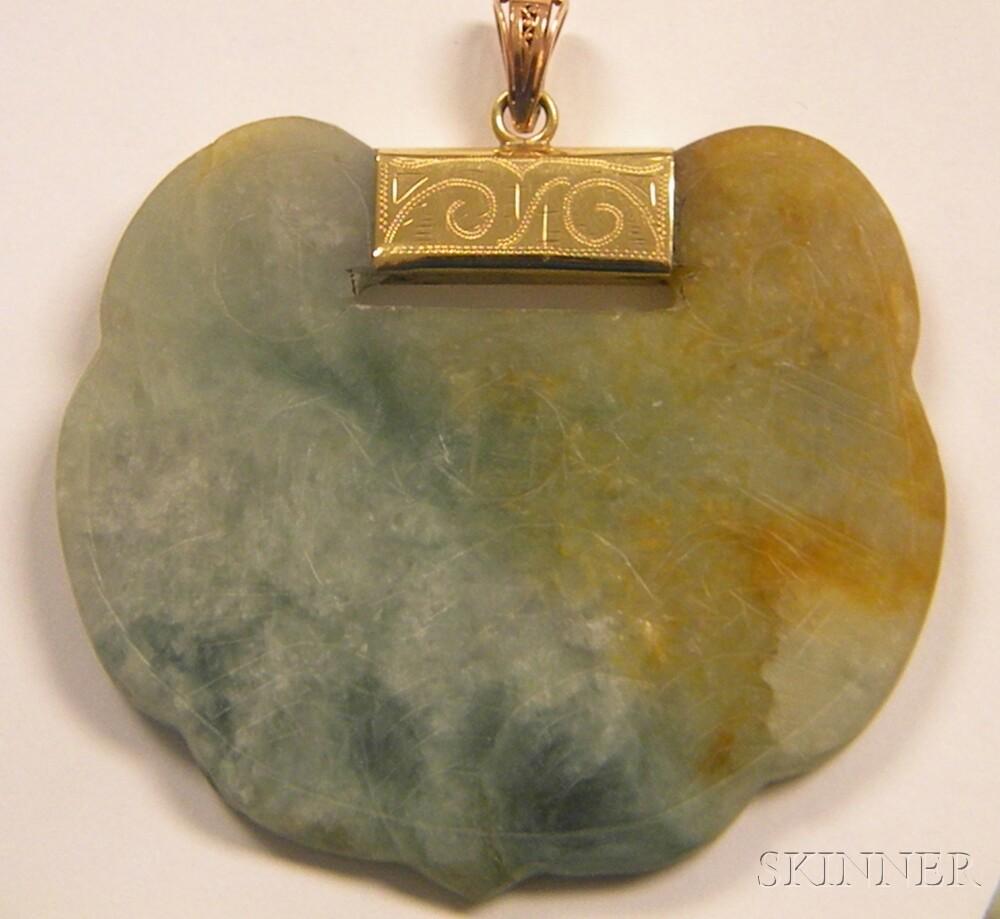 Three Pieces of Jade Jewelry