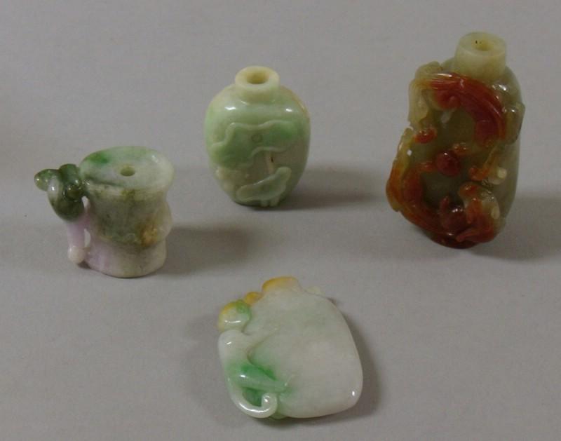 Ten Carved Jade Snuff Bottles