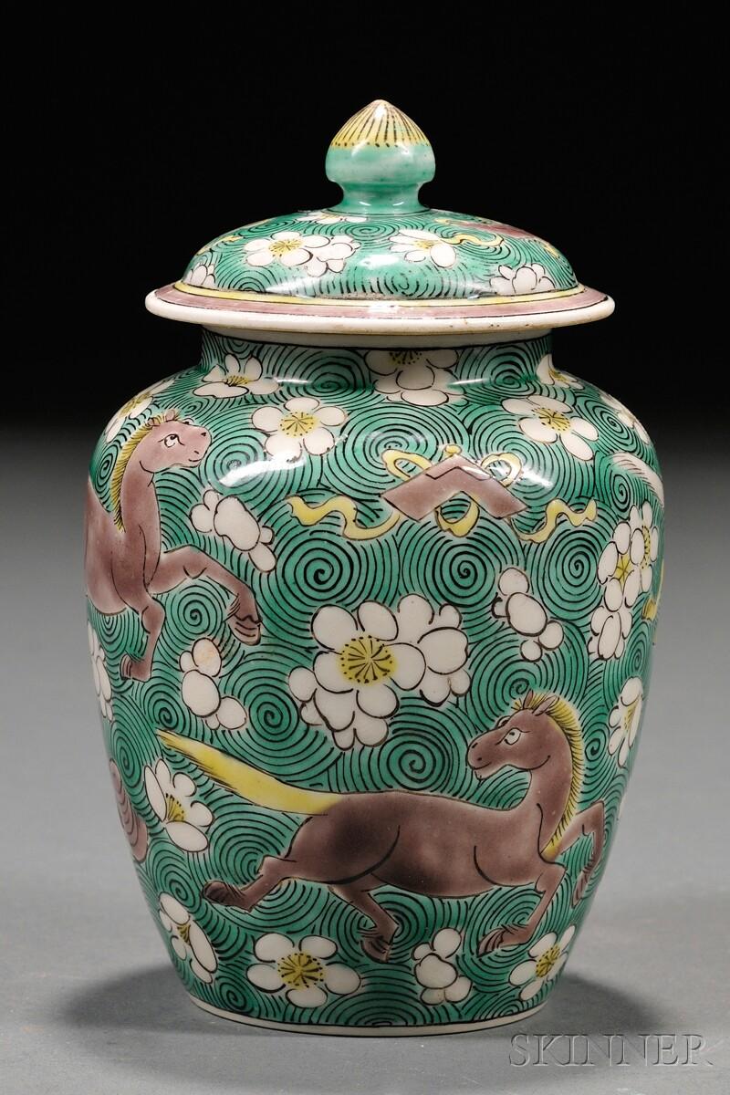 Porcelain Covered Jar