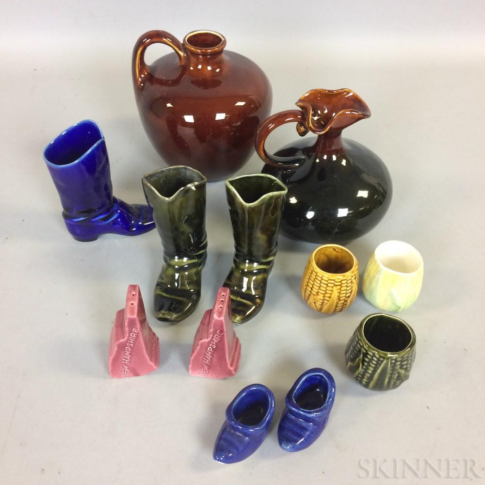 Twelve Pieces of Hampshire Pottery