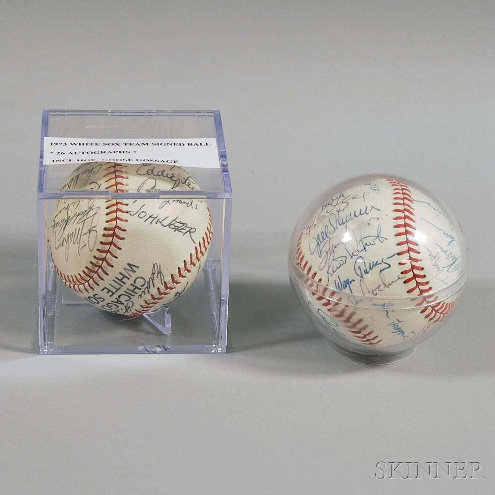 Two Chicago White Sox Team Signed Baseballs