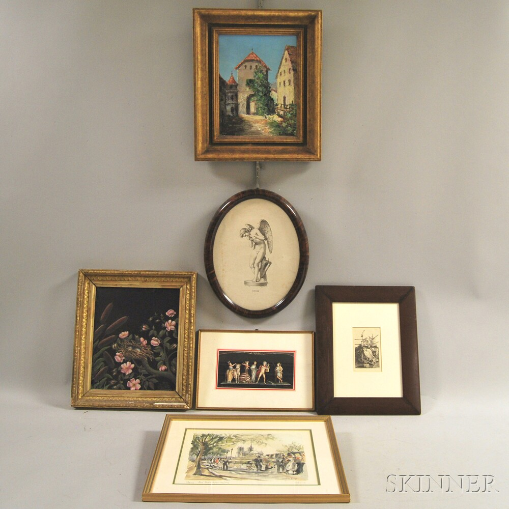Six Framed European Works