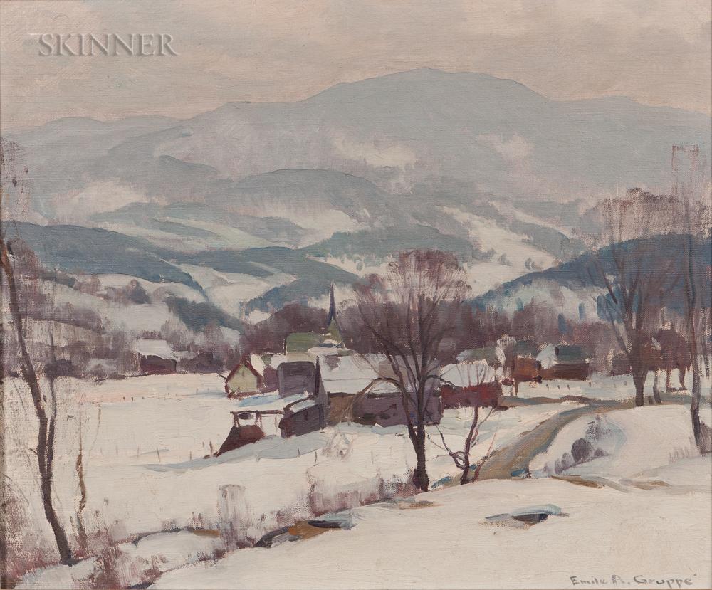 Emile Albert Gruppé (American, 1896-1978)      Silvery Day, Vermont Winter