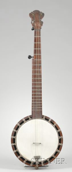 American Five-String Banjo, probably by J.H. Buckbee, c. 1900