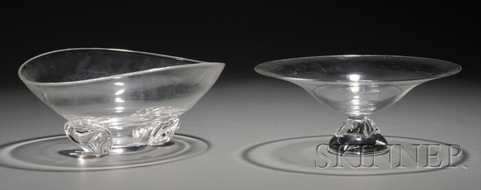 Steuben Glass Compote and Bowl