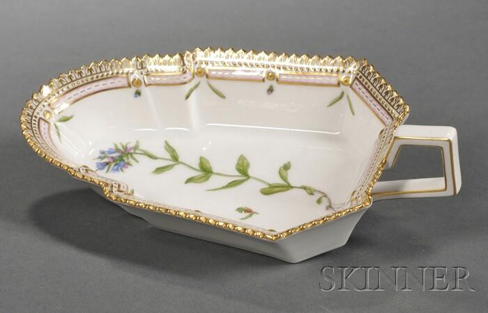 """Royal Copenhagen Porcelain """"Flora Danica"""" Sauce Dish"""