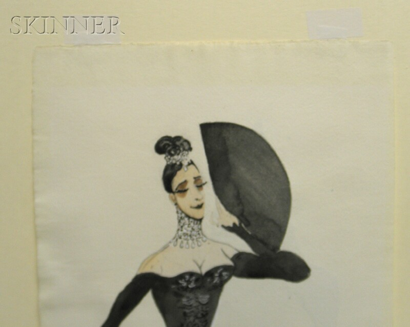Edward J. Burra (British, 1905-1976)      Costume Designs for Don Juan / A Double-sided Composition