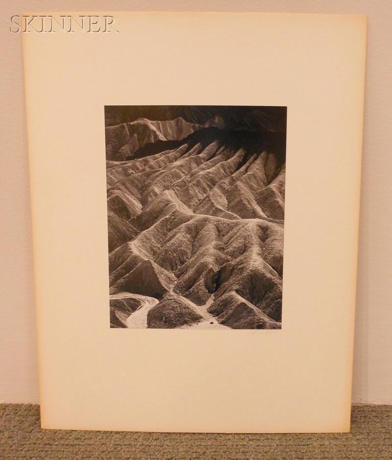 Ansel Adams (American, 1902-1984)      Zabriskie Point, Death Valley National Monument