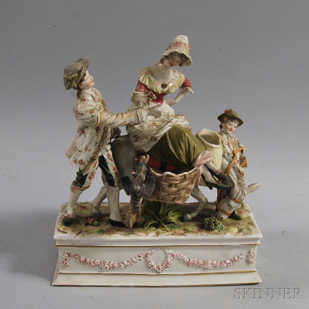 Capo di Monte Porcelain Figural Group