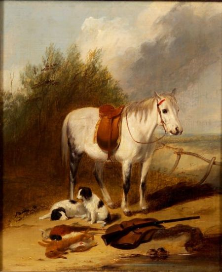 Attributed to William Shayer (British, 1788-1879)    After the Hunt