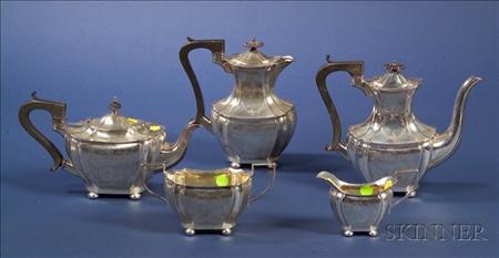 Five Piece Edward VII/George V Silver Tea and Coffee Service