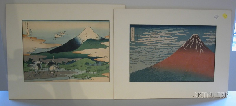 Two Hokusai Prints: