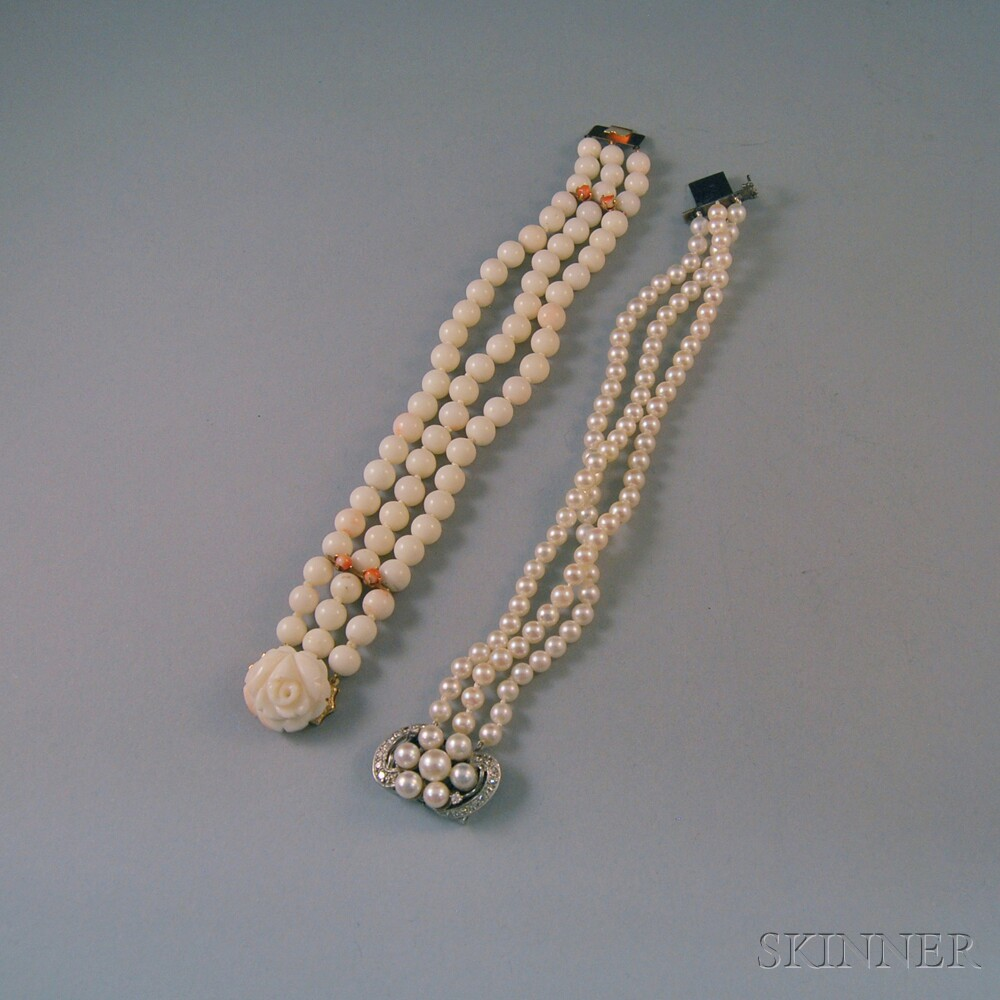 Two Triple-strand Bracelets