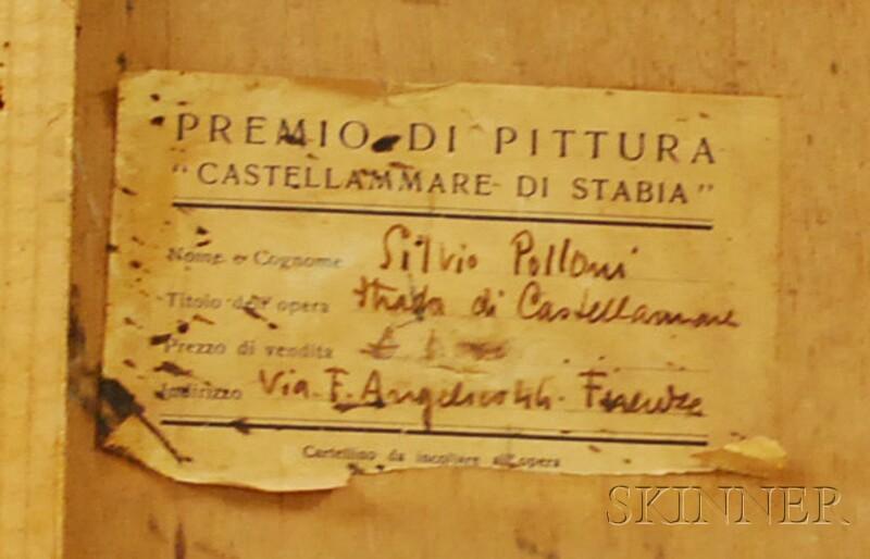 Silvio Polloni (Italian, 1888-1972)      Strada di Castellammare