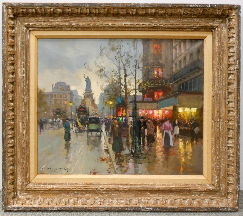 Edouard Léon Cortès (French, 1882-1969)      Place de la République