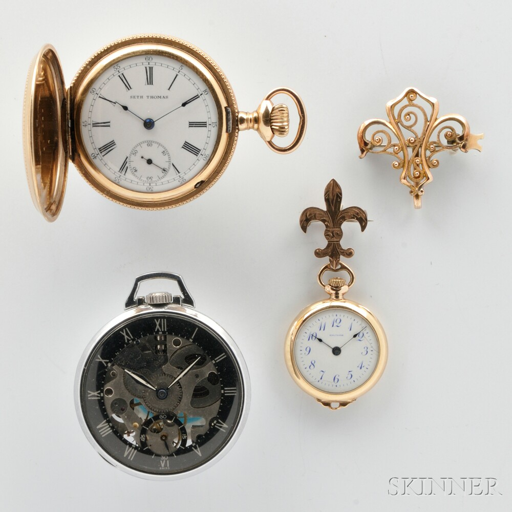 Lady's Waltham and Two Other Watches