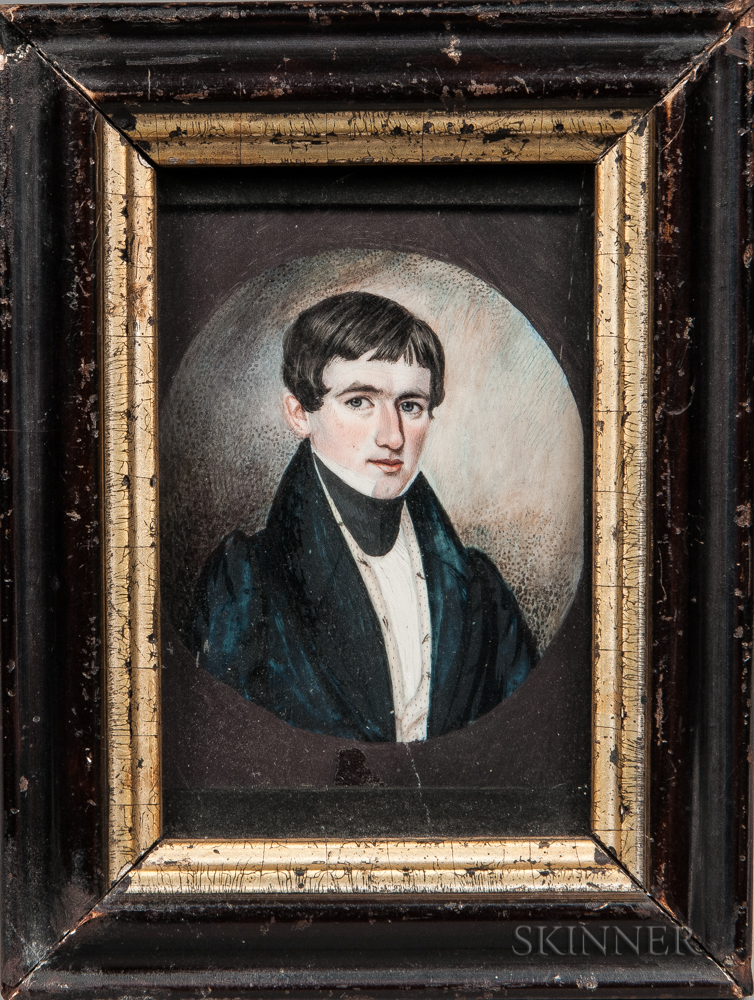 Moses B. Russell (act. Massachusetts/New Hampshire, 1809-1884)      Portrait of a Gentleman