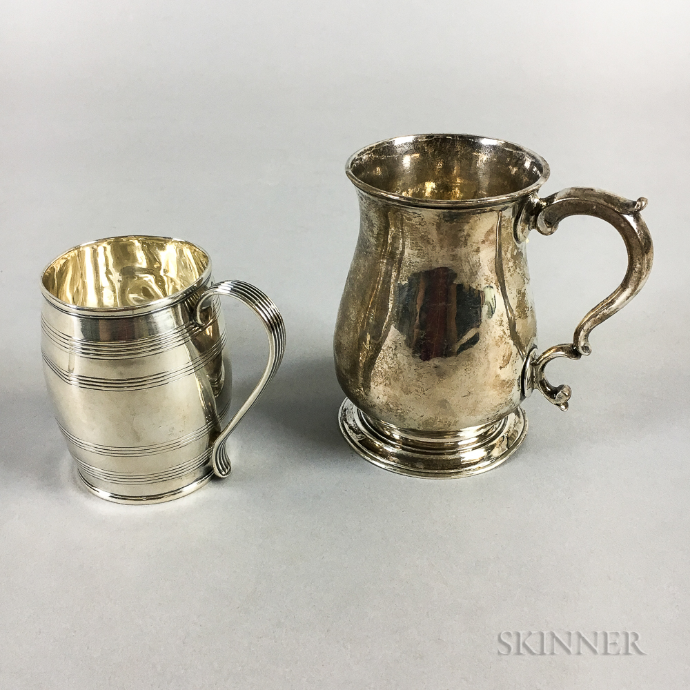 Two English Sterling Silver Mugs