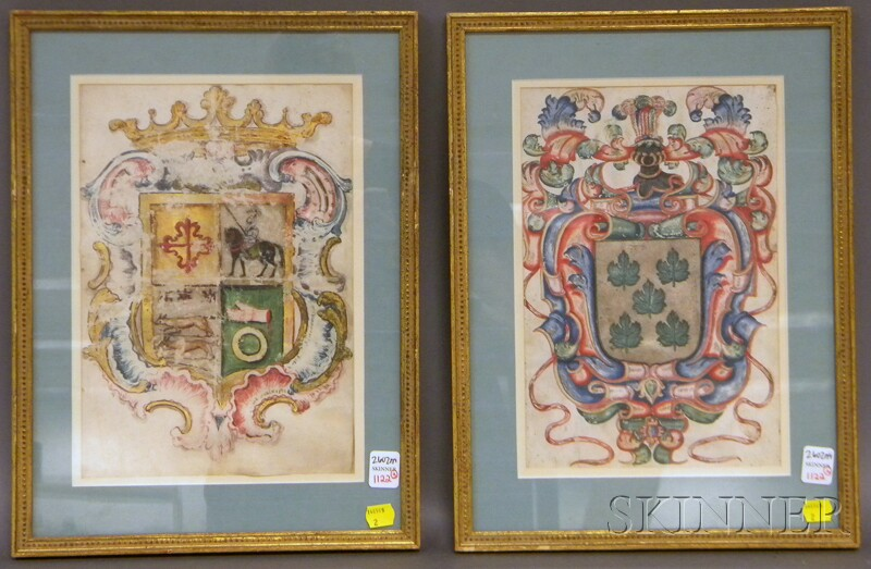 Pair of Framed Coats of Arms