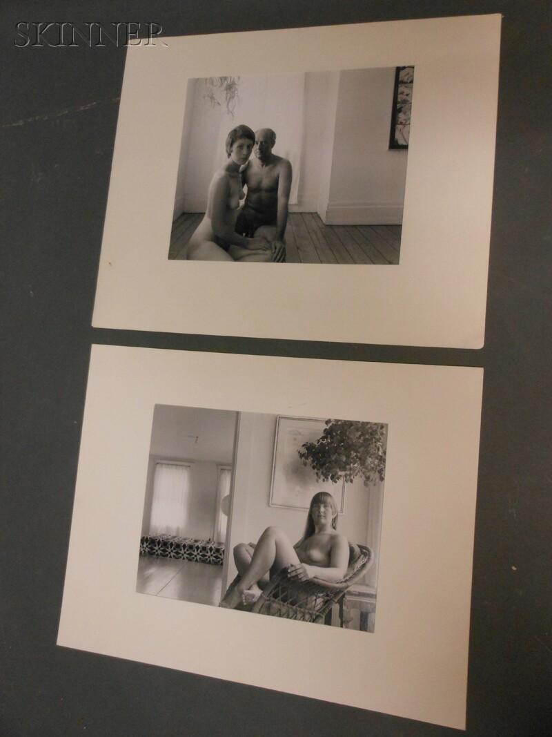 John Benson (American, b. 1927)      Three Portraits: Woman in Chair